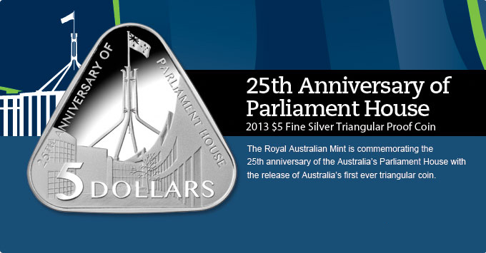 Parliament House Triangular Coin